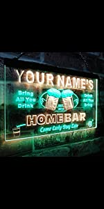 ADVPRO LED neon sign Personalized fonts text simple logo picture dual-color bright light home bar