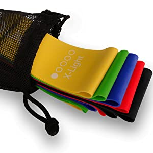 Limm Resistance Bands Set of 5 (Yellow, Green, Blue, Red, Black)