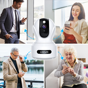 3mp Wireless Home Security Camera Lefun 1536p Hd Pet Camera With Sound Detection Motion Tracking 2 Way Audio Pan Tilt Zoom Wifi Ip Camera Indoor Surveillance Baby Cam With Night Vision Cloud Service Rootatroot