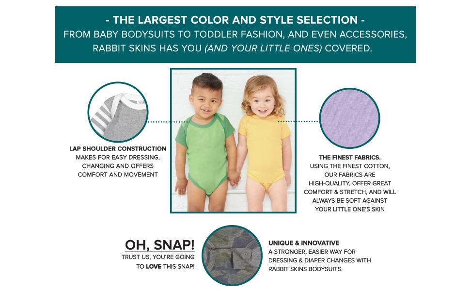 Rabbit Skins Infant Lap Shoulder Creeper boys or girls onepiece 4424 NEW