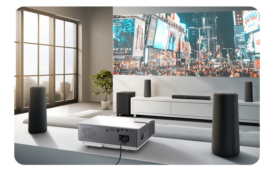 Projector Native Full Hd 1080p Projector Unicview Fhd950 1920 X 1080 6 500 Led Lumens Affordable Maximum Brightness Of Projector Portable Led Home Cinema Ac3 Hdmi Usb Mkv Tv Integrated White Home