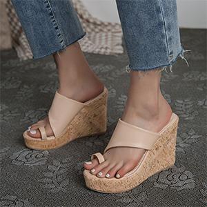nude sandals slip-on slides thongs for women
