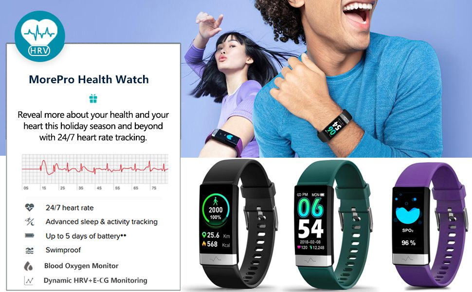 tracker with hr bp monitor all day monitor your heart vitals blood oxygen monitor spo2 detection