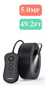 5.0mp WiFi Endoscope - 49.2ft