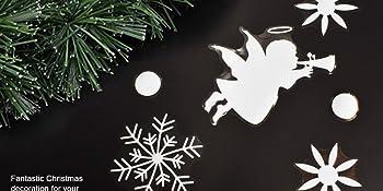 Copos de Nieve y Pelota Decoración Navidad Pegatina