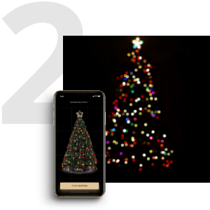 Twinkly LED string lights Christmas decoration outdoor indoor wedding music sync app voice control