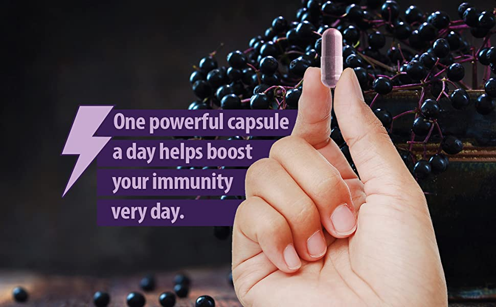 One powerful capsule a day helps boost your immunity very day.