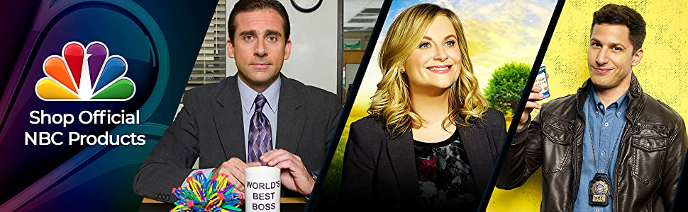 official nbc merchandise for fans the office american ninja warrior parks and recreation good place