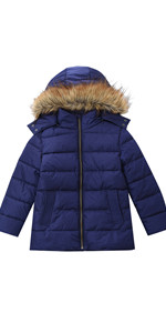 Girls Winter Coats with Hood Thick Padded Puffer Jackets