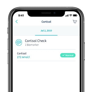 cortisol test results mobile app