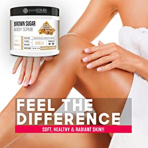 Vanilla Brown Sugar Face and Body Scrub Feel The Difference