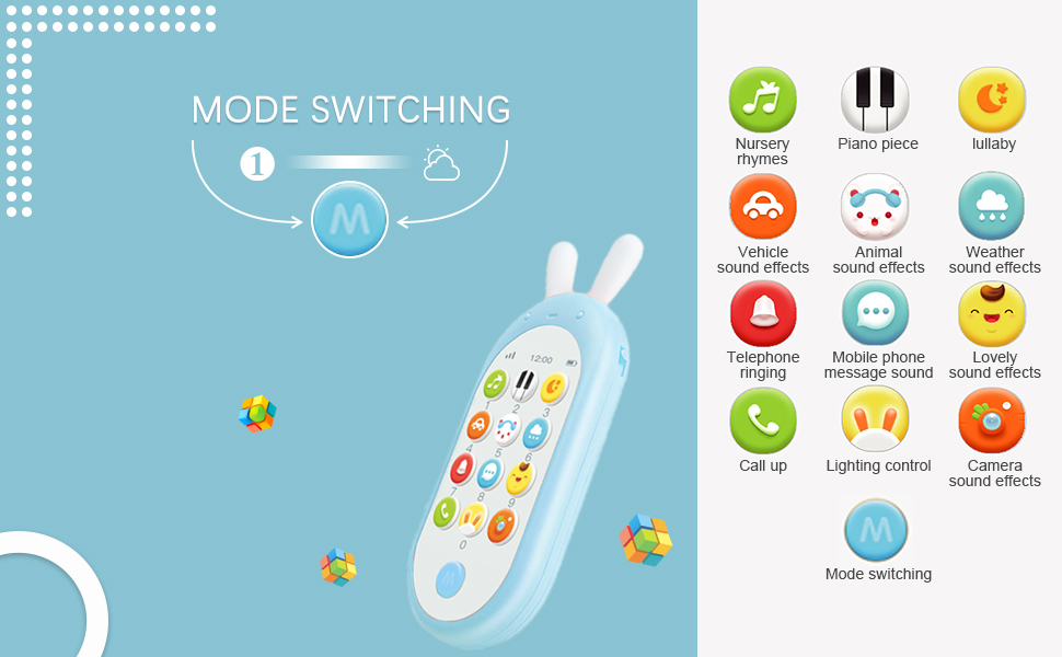 baby cellphone with music and different modes