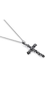 Rose Flower Cross Necklace