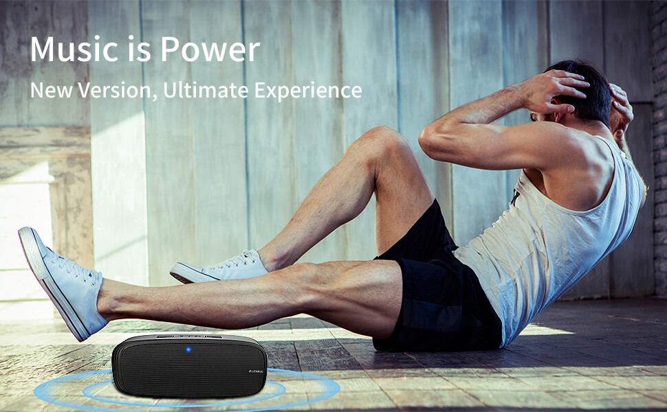 portable speaker  LENRUE Bluetooth Speaker, Wireless Portable Speaker with Loud Stereo Sound, Rich Bass, 12-Hour Playtime, Built-in Mic. Perfect for iPhone, Samsung and More 94a7b958 ee89 4a16 802e 35262fd177b1