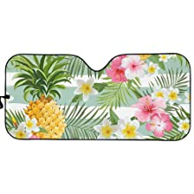Pineapple Floral  Car Sun Shade for Window Front