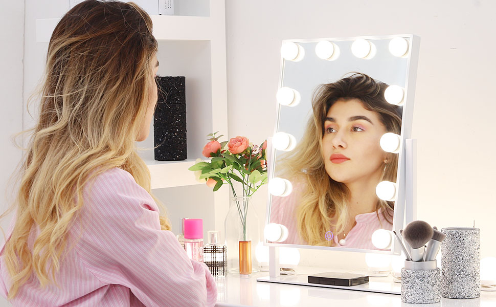 FlinQ Hollywood Make-up Spiegel met led lampen