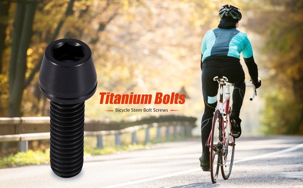 oshhni 16Pcs CNC MTB Road Bike M5x17mm Handlebar Mounting Screw Stem Bolts