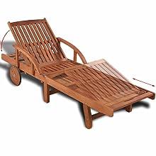 Position Backrest Adjustable Solid Plastic Frame Sun Lounger