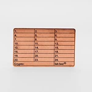 Safe Seed Copper Edition Stamp Plate