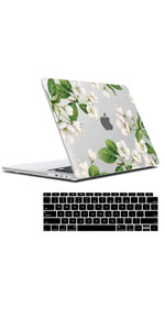 White Apple Flower Clear Case MacBook Air 13 Inch