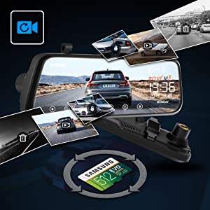 A Dash Camera with Loop Recording, 512 GB Storage Support, G-Sensor