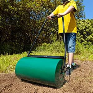 Gardebruk Rodillo para jardín Aplanador de césped y superficies tierra Verde apisonador 60Kg 60cm mango plegable jardinería: Amazon.es: Jardín