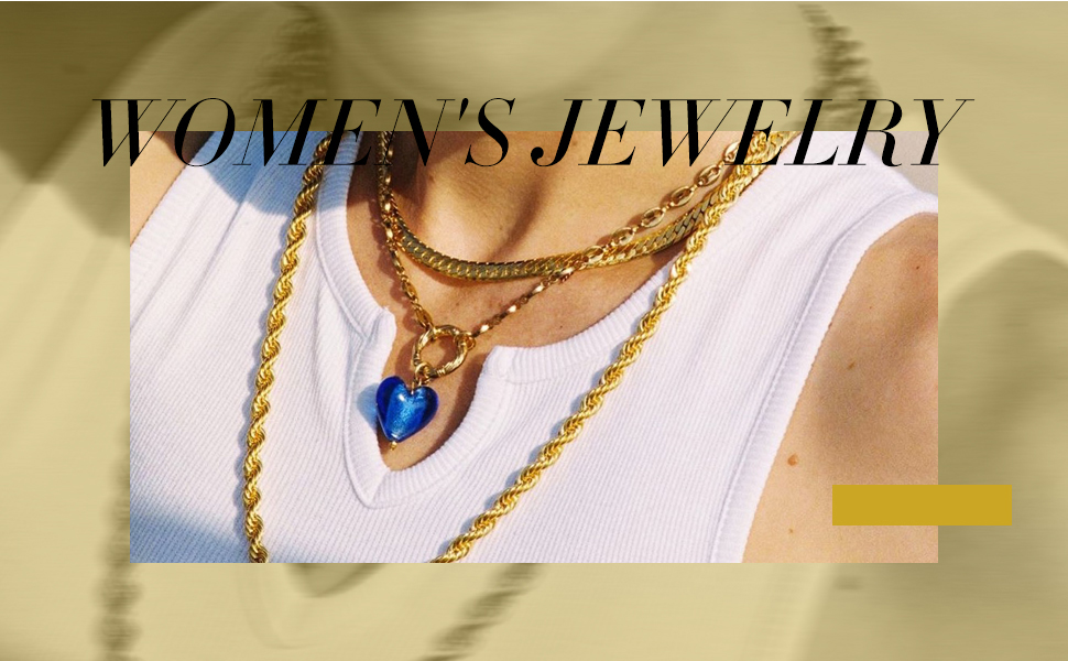 Dainty Gold plated blue planet pendant necklace.
