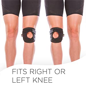 The braceability patella support brace can be worn on right or left leg