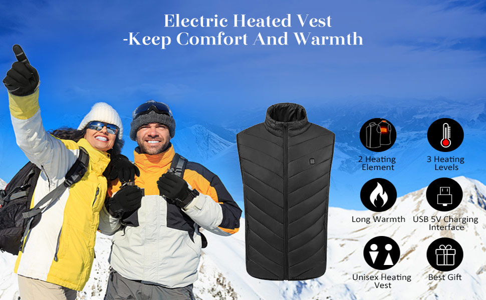 heated vest jacket for mens and womens