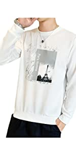 ロングTシャツ メンズ 長袖 トップス カットソー カジュアル プリント 2XL ロングtシャツ 160 男の子 大きいサイズ ロング丈シャツ ゆったり 半袖 ブラウン 5l 白 大きい tシャツ