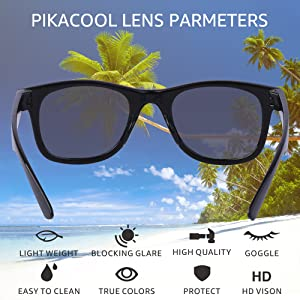 UV400 girls pikacool accessories wayfarer glasses gift set polarized eye protection