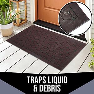 Rubber Doormat mat door rug outdoor indoor front black doormat