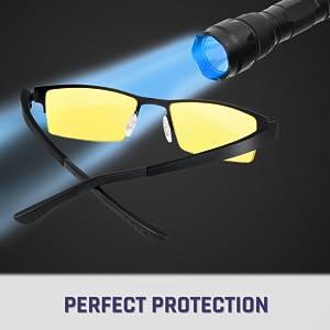 ZYHZP 1PC luz Azul Bloqueo Clip sobre los vidrios Anti-Fatiga Anti UV Blue Rays Voltear Strain Encima de los vidrios de los Ojos Gafas de protecci/ón del Ordenador Frame Color : Amarillo