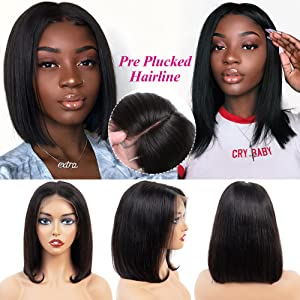 lace front wigs human hair with baby hair