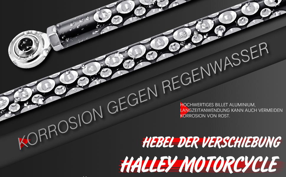 Katur Motorrad Cnc Schalthebel Schaltgestänge Schalthebel Schwarz Billet Aluminium Für Harley Softail Dyna Touring Electra Road King Street Glide 1980 2018 Auto