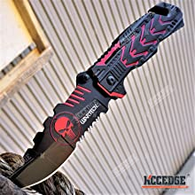 """8.25"""" Alien Punisher Skull Pocket Knife"""