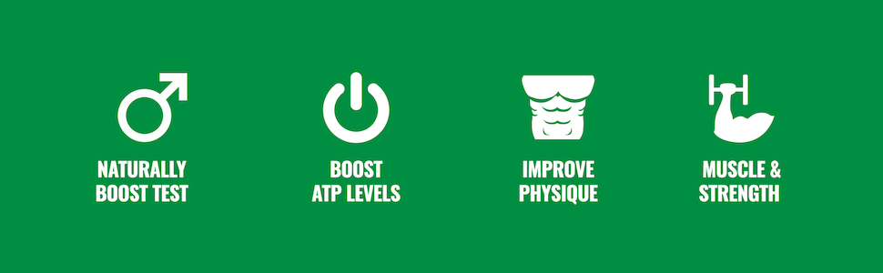 Naturally Boost Test, Boost ATP Levels, Improve Physique, Muscle, and Strength