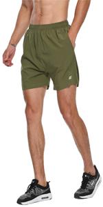 LABEYZON Men's 5 Inches Running Shorts