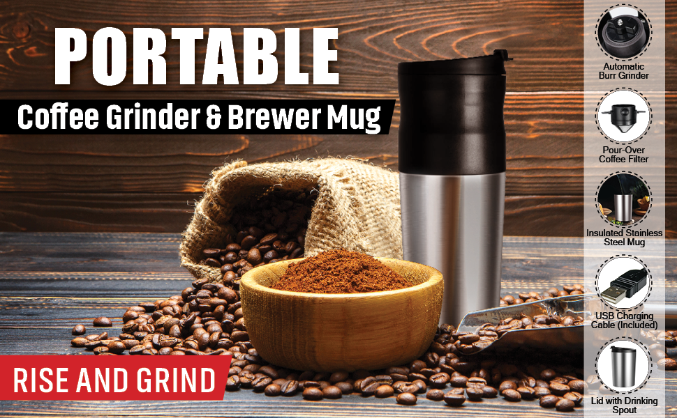 Coffee Grinder & Pour over Brewer