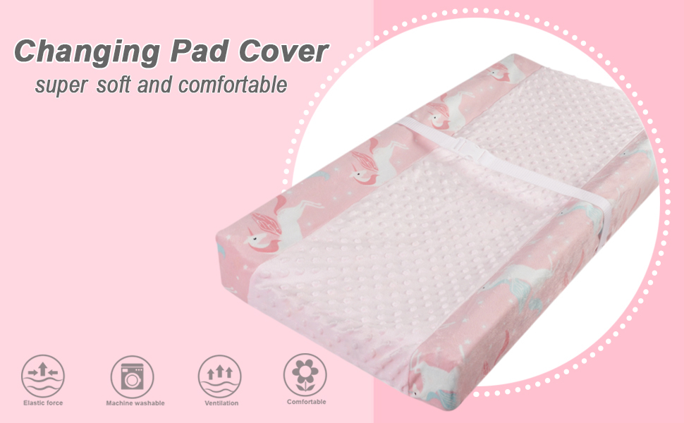 Boritar Dot Changing Pad Cover Ultra Soft Minky Fabric with Gray Little Arrow Print Cover for Boys Grils Super Soft and Semi-Waterproof with Dotted Design Gray 16 /× 32 Inch
