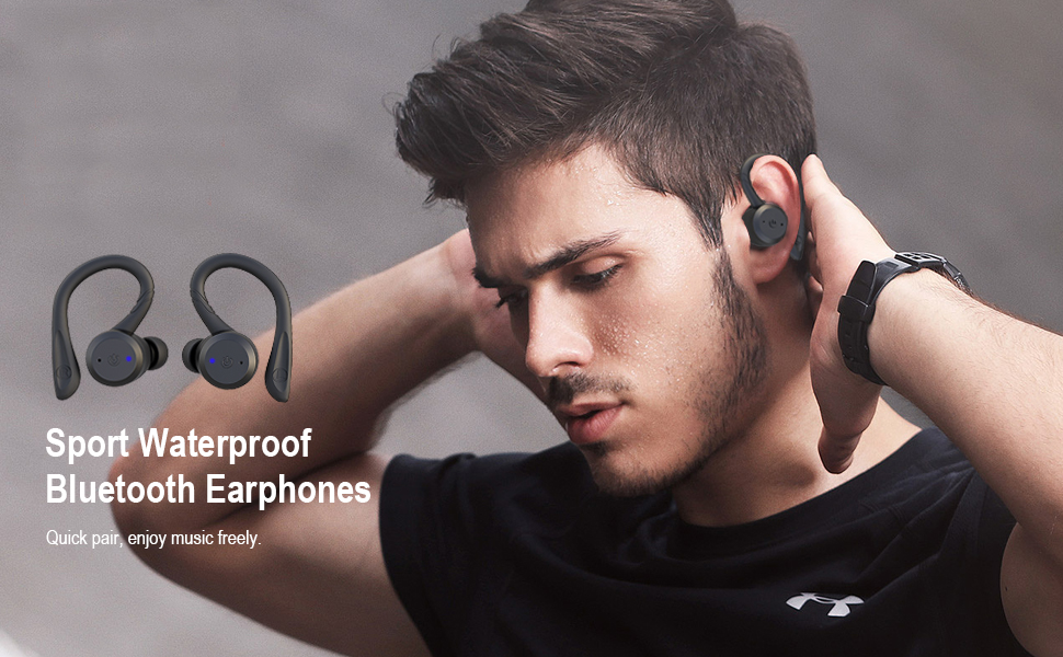 Sport Waterproof Bluetooth Earphones
