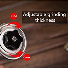 Adjustable grinding thickness
