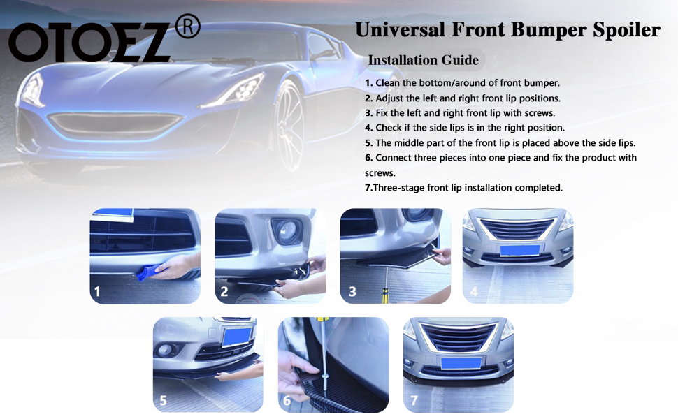 universal front bumper lip Spoiler Splitter