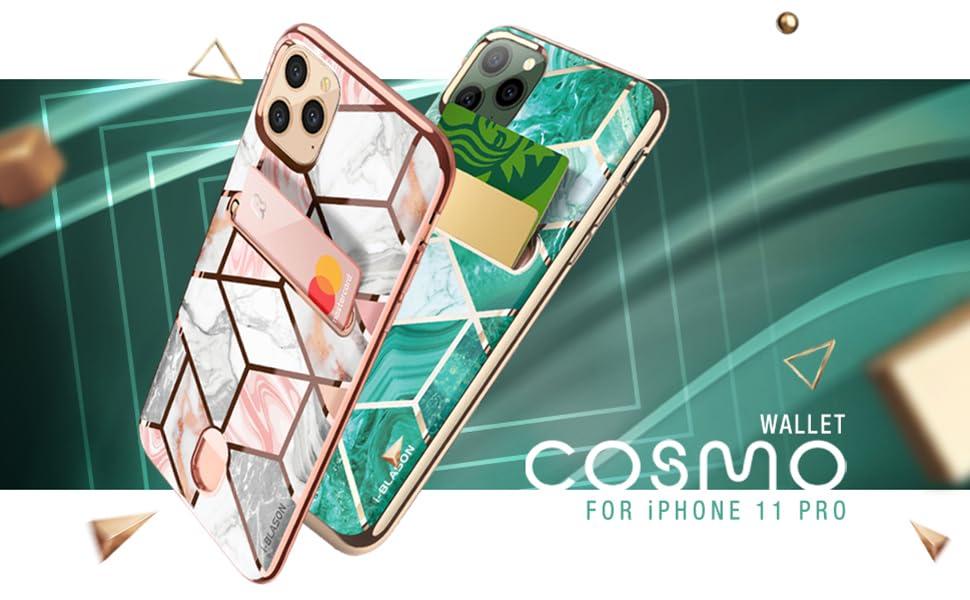 i-Blason Stylish Cosmo Wallet Case for iPhone 11 Pro 5.8 2019