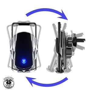 Sodacoda Q3 Kabelloses Handy Auto Ladegerät Halter Elektronik