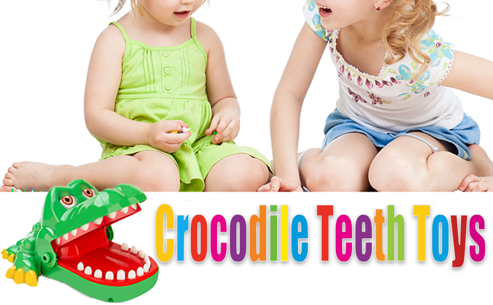 crocodile teeth toys game for kids