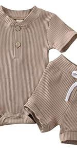 Short Sleeve Romper Shorts Set