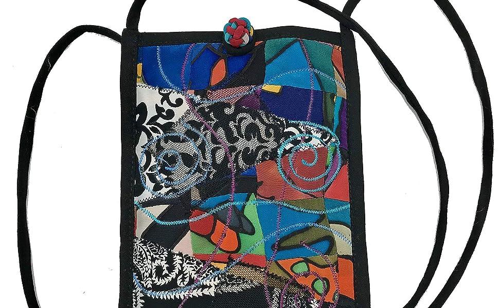 Cross body cell phone bag
