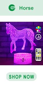 easuntec horse 3d led illusion lamp