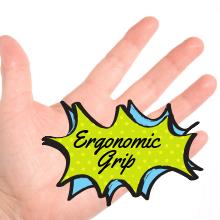 ergonomic grip texture design mold molded plastic durable black secure quality cycle ride bike